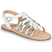 Chaussures Fille Sandales et Nu-pieds Citrouille et Compagnie MAYANA Blanc/argent