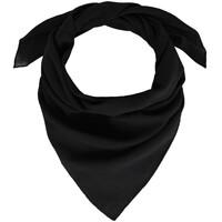 Accessoires textile Femme Echarpes / Etoles / Foulards Allée Du Foulard Bandana coton uni Noir