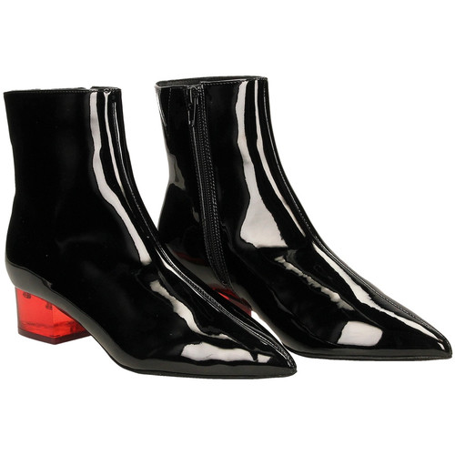 Jcs Luminous Patent Femme nero Boots Blare Jeffrey Low rosso Campbell PXn0w8ONkZ