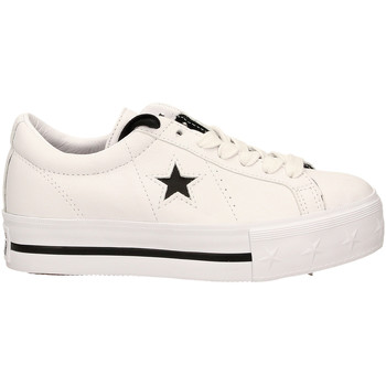 Chaussures Femme Baskets basses Converse ONE STAR PLATFORM OX whibl-bianco-nero