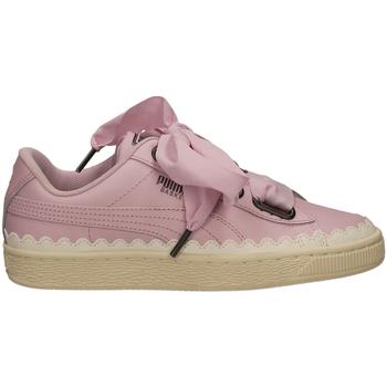 Chaussures Femme Baskets basses Puma BASKET HEART SCALLOP orchi-viola