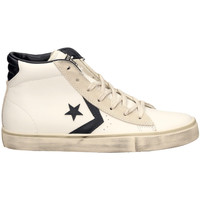 Chaussures Homme Baskets montantes All Star PRO LTHR VULC MID white-bianco-blu