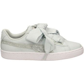 Chaussures Femme Baskets basses Puma BASKET HEART CANVAS blasi-verde-tiffany