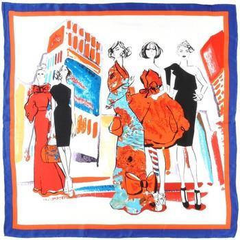 Accessoires textile Femme Echarpes / Etoles / Foulards Allée Du Foulard Carré de soie Premium Modeuses Orange