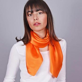 Accessoires textile Femme Echarpes / Etoles / Foulards Allée Du Foulard Carré de soie Premium Uni Orange