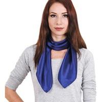 Accessoires textile Femme Echarpes / Etoles / Foulards Allée Du Foulard Carré de soie Premium Uni Marine