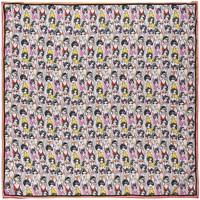 Accessoires textile Femme Echarpes / Etoles / Foulards Sacaly Carré de soie Donna Noir