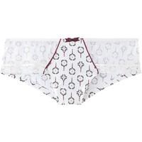 Sous-vêtements Femme Shorties & boxers Pommpoire Shorty ivoire/bordeaux Aquatik Blanc