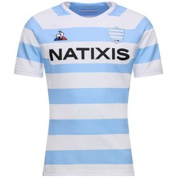 Vêtements T-shirts manches courtes Le Coq Sportif Maillot rugby Racing 92, répli Blanc