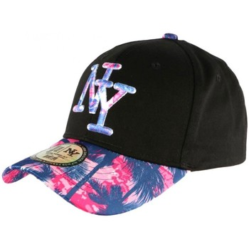 Accessoires textile Casquettes Hip Hop Honour Casquette NY Rose et Bleue Fashion Baseball Hawai Rose