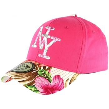 Accessoires textile Casquettes Hip Hop Honour Casquette NY Rose et Beige Fleurs Gili Baseball Fashion Tropic Rose