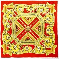 Accessoires textile Femme Echarpes / Etoles / Foulards Allée Du Foulard Carré de soie Premium Aleja Rouge