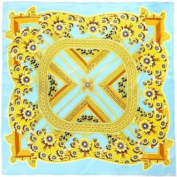 Accessoires textile Femme Echarpes / Etoles / Foulards Allée Du Foulard Carré de soie Premium Aleja Turquoise