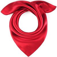 Accessoires textile Femme Echarpes / Etoles / Foulards Allée Du Foulard Carré de soie Piccolo uni Rouge
