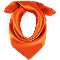 Accessoires textile Femme Echarpes / Etoles / Foulards Allée Du Foulard Carré de soie Piccolo uni Orange