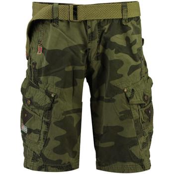 Vêtements Homme Shorts / Bermudas Geographical Norway Short Coton PEANUT MEN CAMO NEW marron