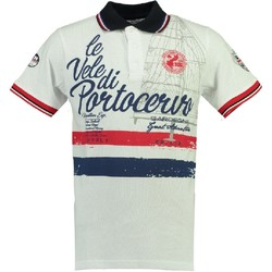 Vêtements Homme Polos manches courtes Geographical Norway Polo manches courtes Coton KINGSLEY ss MEN blanc