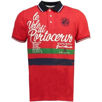 Vêtements Homme Polos manches courtes Geographical Norway Polo manches courtes Coton KINGSLEY ss MEN rouge