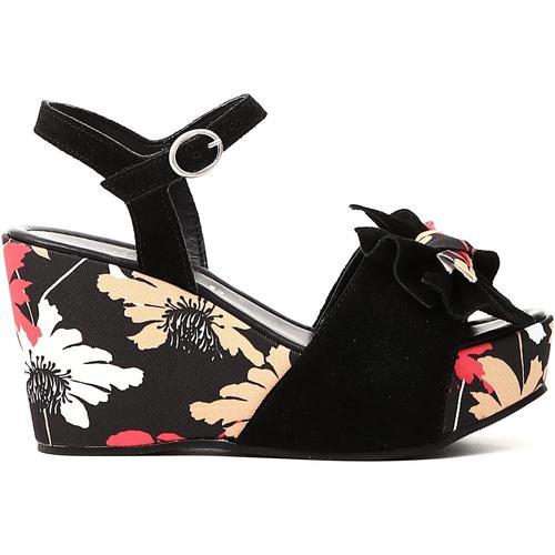 Chaussures Femme Sandales et Nu-pieds Café Noir KJS624 E18.010 NERO