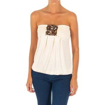 Vêtements Femme Chemises / Chemisiers Met Haut sans manches Beige