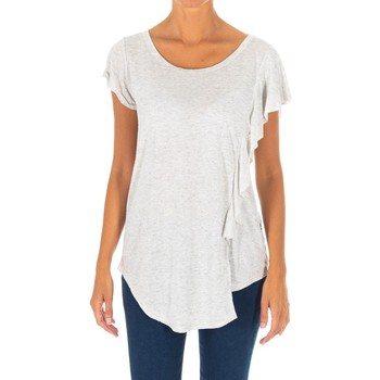 Vêtements Femme Tuniques Met un t-shirt à manches courtes Gris