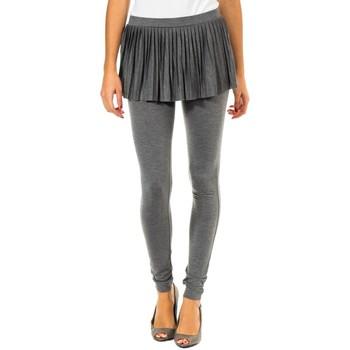 Vêtements Femme Leggings Met Leggin  Avec Jupe plissée Gris