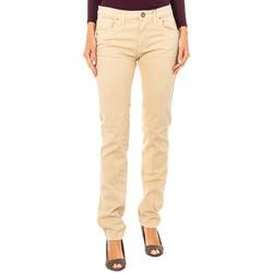 Vêtements Femme Pantalons 5 poches La Martina Pantalon stretch Beige