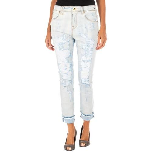 Vêtements Femme Jeans 3/4 & 7/8 Met pantalon long Bleu