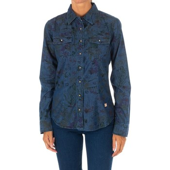 Vêtements Femme Chemises / Chemisiers Met Shirt Tejano Bleu
