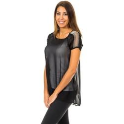Vêtements Femme Tops / Blouses Met blouse à manches courtes Noir