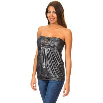 Vêtements Femme Tops / Blouses Met Haut sans manches Noir