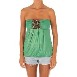 Vêtements Femme Tops / Blouses Met Haut sans manches Vert