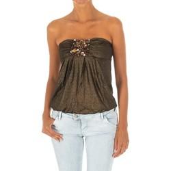 Vêtements Femme Tops / Blouses Met Haut sans manches Jaune