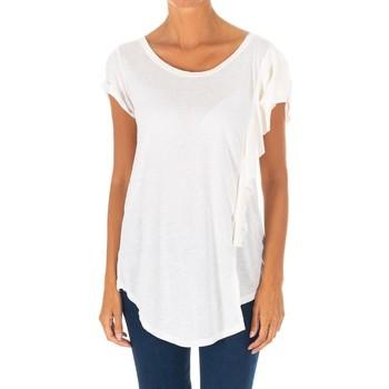 Vêtements Femme Tops / Blouses Met un t-shirt à manches courtes Blanc