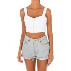 Vêtements Femme Tops / Blouses Met Top Tejano Blanc