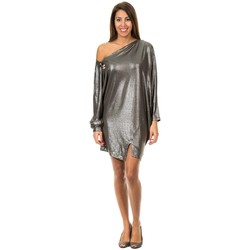 Vêtements Femme Robes courtes Met Robe longue à manches Gris