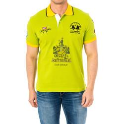 Vêtements Homme Polos manches courtes La Martina Polo manches courtes Vert