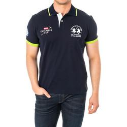 Vêtements Homme Polos manches courtes La Martina Polo manches courtes Bleu