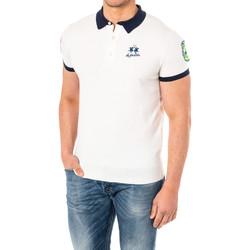 Vêtements Homme Polos manches courtes La Martina Polo manches courtes Blanc
