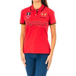 Vêtements Femme Polos manches courtes La Martina Polo à manches courtes Rouge