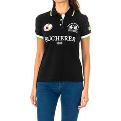 Vêtements Femme Polos manches courtes La Martina Polo à manches courtes Noir