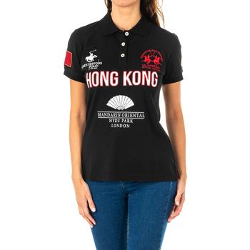 Vêtements Femme Polos manches courtes La Martina Polo manches courtes Noir