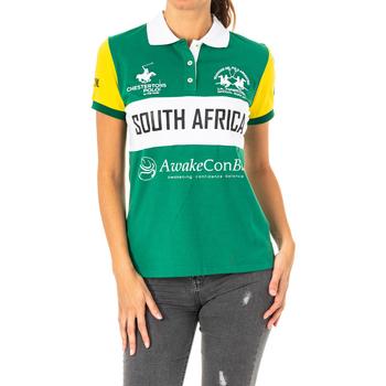 Vêtements Femme Polos manches courtes La Martina Polo manches courtes Vert