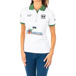 Vêtements Femme Polos manches courtes La Martina Polo à manches courtes Blanc
