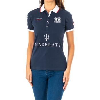 Vêtements Femme Polos manches courtes La Martina Polo manches courtes Bleu