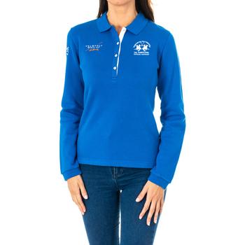 Vêtements Femme Polos manches longues La Martina Polo manches longues Bleu