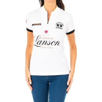 Vêtements Femme Polos manches courtes La Martina Polo manches courtes Blanc