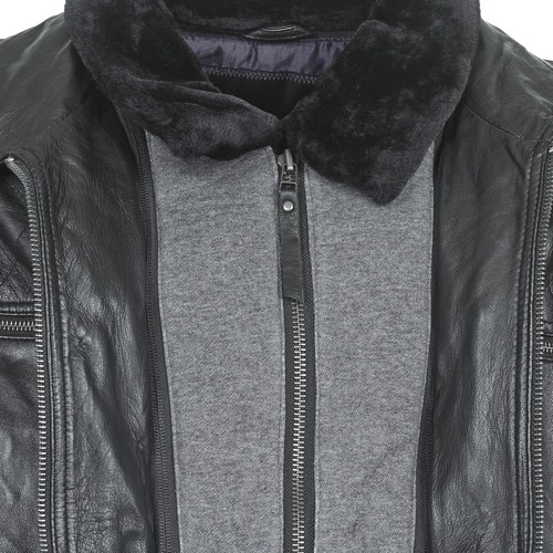 Noir Bleather Smith Vestes Teddy CuirSynthétiques En Homme TK1lFcJ3