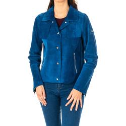 Vêtements Femme Vestes / Blazers La Martina Veste longue en cuir Bleu