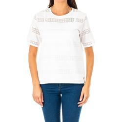 Vêtements Femme Tops / Blouses La Martina Blouse à manches courtes Blanc
